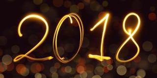 Kalender, freezelight, bokeh, 2018 Lizenzfreies Stockfoto