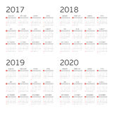 kalender fyra år Royaltyfri Foto