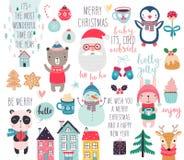 Kalender 2019 Gullig månatlig kalender med skogdjur royaltyfri illustrationer
