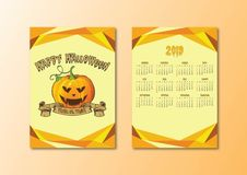 Kalender halloween royaltyfri illustrationer