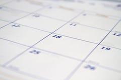 Kalender-Hintergrund stockfoto
