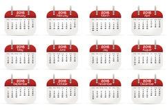Kalender 2015 i engelskt språk arkivfoton