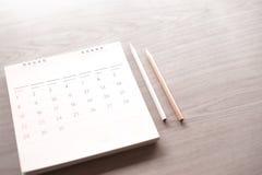 Kalender i planbegrepp arkivbilder