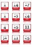 Kalender-Ikonen Lizenzfreies Stockbild
