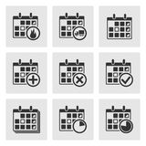 Kalender-Ikonen Lizenzfreie Stockfotografie