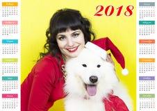 Kalender im Jahr des Hundes Stockbilder