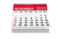 Kalender im November 2013 Stockfotografie