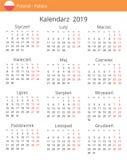 Kalender 2019-jährig für Polen-Land vektor abbildung