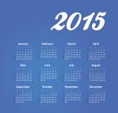Kalender 2015 jaar Royalty-vrije Stock Afbeeldingen