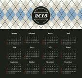 Kalender 2015 jaar Stock Afbeeldingen