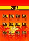 Kalender 2017 jaar Royalty-vrije Stock Afbeeldingen