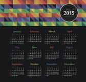 Kalender 2015 jaar met gekleurde driehoeken Stock Foto's