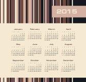 Kalender 2015 jaar met rassenbarrières Royalty-vrije Stock Afbeelding