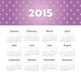 Kalender 2015 jaar met sterren Royalty-vrije Stock Afbeelding