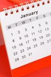 kalender januari Arkivbilder