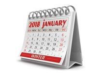 Kalender - Januari 2018 vektor illustrationer