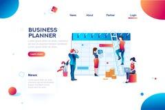 Kalender Job Business Planner Planning och besparing royaltyfri illustrationer