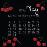 Kalender, Mai 2010 lizenzfreie stockbilder