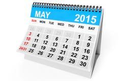 Kalender Maj 2015 vektor illustrationer