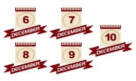 Kalender med banduppsättningen vektor illustrationer