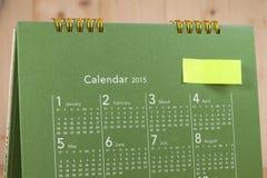 Kalender med dagar och data Royaltyfri Fotografi