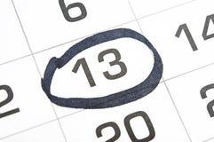 Kalender med ett datum Arkivfoton