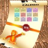 Kalender med färgrika månader vektor illustrationer