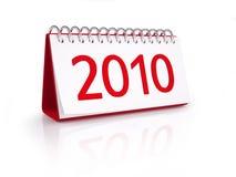 Kalender met datum van Nieuwjaar 2010 Royalty-vrije Stock Afbeeldingen