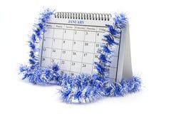 Kalender met Klatergoud Stock Fotografie