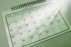 Kalender met Lichte Stroken Royalty-vrije Stock Foto's