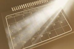 Kalender met Lichte Stroken Stock Foto