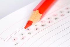 Kalender met potlood Royalty-vrije Stock Afbeeldingen