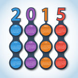 Kalender metaball Vektorhintergrund 2015 Stockbild