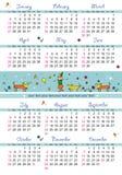 Kalender mit 2008 Kindern stock abbildung