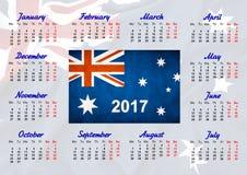 Kalender mit australischer Flagge Stockbild