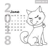 Kalender mit einem Hund lizenzfreie abbildung