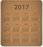 Kalender mit 2017 Franzosen Lizenzfreie Stockfotografie