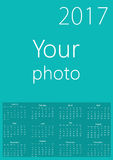 Kalender 2017 mit Ihrem Hintergrund Lizenzfreie Stockfotografie