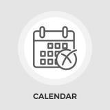 Kalender mit Kreuz Lizenzfreies Stockfoto