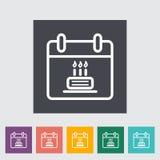 Kalender mit Kuchen Lizenzfreies Stockbild