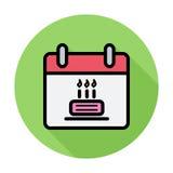 Kalender mit Kuchen Stockfoto