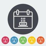 Kalender mit Kuchen Lizenzfreie Stockfotografie