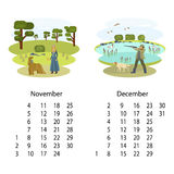 Kalender 2018 November December Royaltyfria Foton