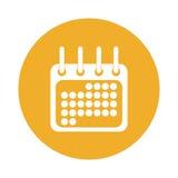 Kalender oder Tagesordnungsknopfdaumennagelikonenbild Lizenzfreies Stockfoto
