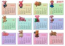 Kalender op het jaar van 2007 Royalty-vrije Stock Afbeelding