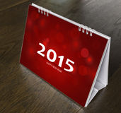 Kalender op houten lijst Royalty-vrije Stock Afbeeldingen