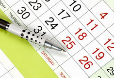 Kalender, planning Royalty-vrije Stock Foto's