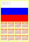 kalender Russische Sprache Lizenzfreies Stockfoto