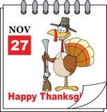 Kalender-Seite die Türkei mit Muskete Stockbild