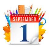 Kalender September-erster Lizenzfreies Stockbild